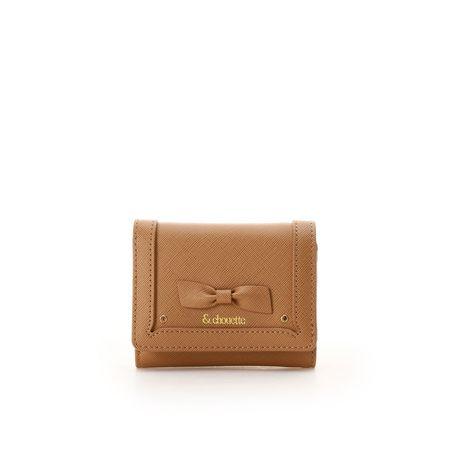 サマンサタバサ 折財布 バースストーンカラーパース 11月 キャメル &chouette