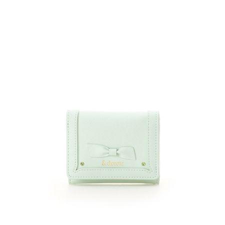 サマンサタバサ 折財布 バースストーンカラーパース 8月 ミント &chouette