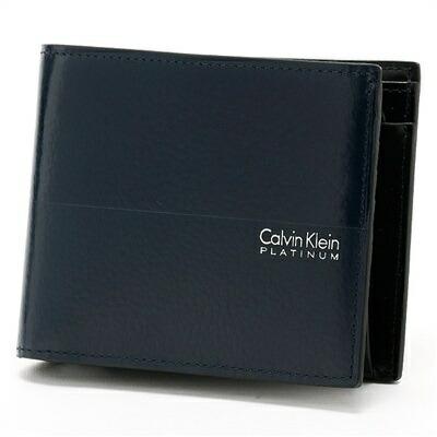 カルバンクライン ヘイズ 二つ折り財布 ネイビー