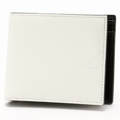 カルバンクライン ヘイズ 二つ折り財布 ホワイト