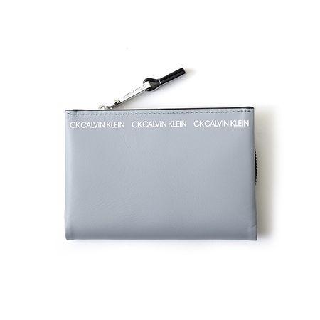 カルバンクライン パスケース アンダー財布 小銭入れ兼用パスケース グレー CalvinKlein