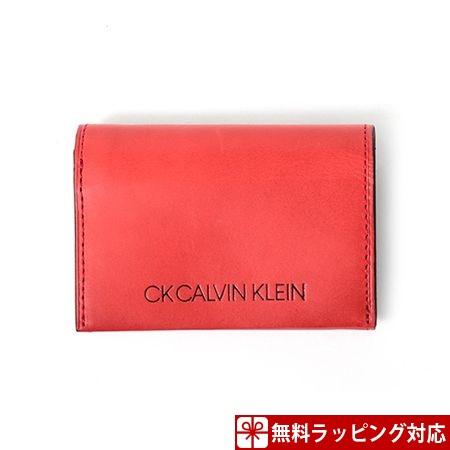 カルバンクライン 財布 メンズ 折財布 ハンク 小銭入れ 札入れ口付き レッド CalvinKlein