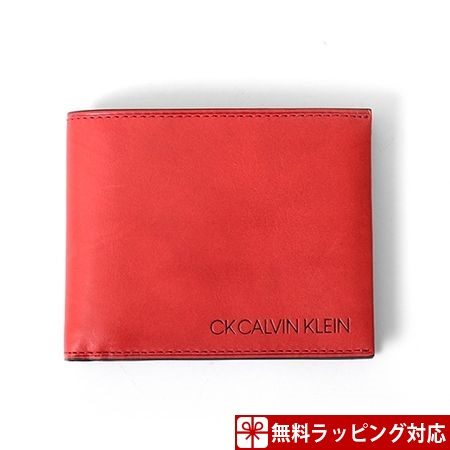 カルバンクライン 財布 メンズ 折財布 ハンク 二つ折り財布 レッド CalvinKlein