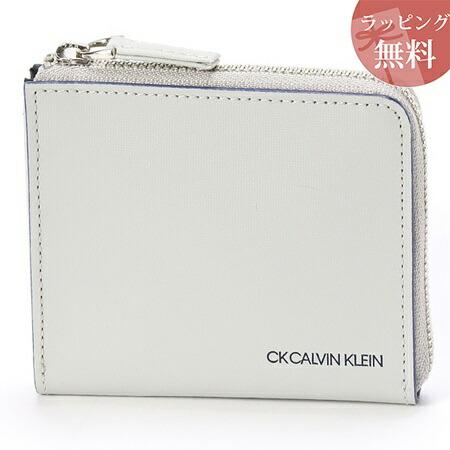 カルバンクライン 財布 メンズ コンパクト財布 ミニ財布 ミニカラー グレー CalvinKlein
