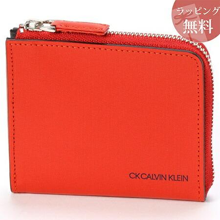 カルバンクライン 財布 メンズ コンパクト財布 ミニ財布 ミニカラー オレンジ CalvinKlein