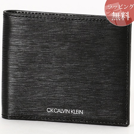 カルバンクライン 財布 メンズ 折財布 二つ折り 純札 ニッチ ブラック CalvinKlein