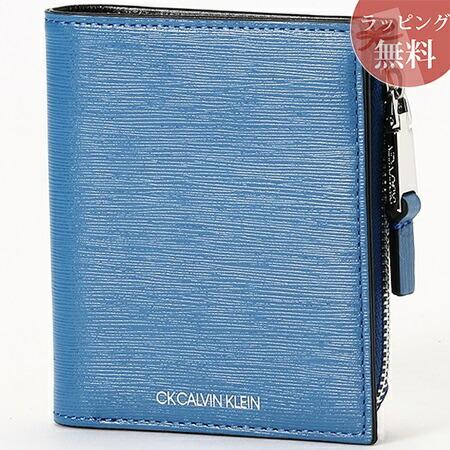 カルバンクライン 財布 メンズ 折財布 二つ折り ニッチ ブルー CalvinKlein