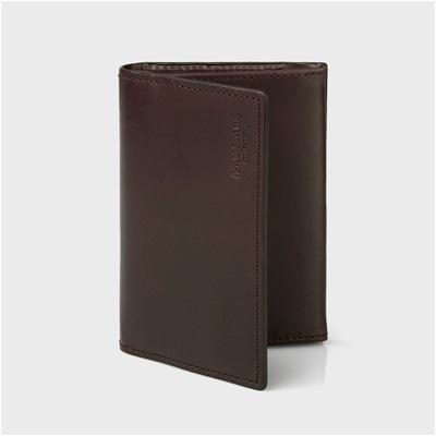 ポールスミス・コレクション ボックスカーフ 名刺入れ カードケース ブラウン