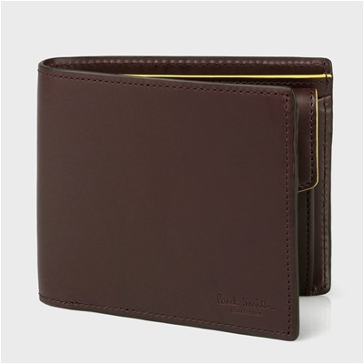 ポールスミス・コレクション ボックスカーフ 二つ折り財布 ブラウン
