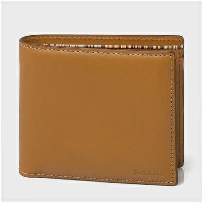 ポールスミス オールドレザー 二つ折り財布 ブラウン