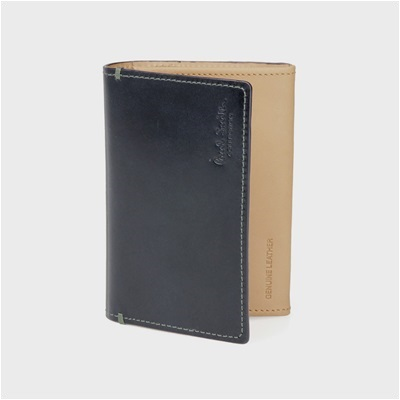 ポールスミス・コレクション PCステインカーフ 名刺入れ カードケース ネイビー