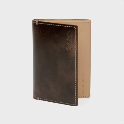 ポールスミス・コレクション PCステインカーフ 名刺入れ カードケース ダークブラウン