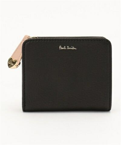 ポールスミス ハートプル ミニ財布 ブラック