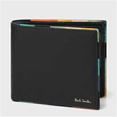 ポールスミス アーティストストライプポップ 二つ折り財布 ブラック
