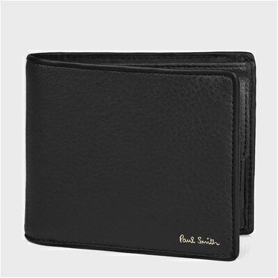 ポールスミス マルチストライプタブ 二つ折り財布 ブラック