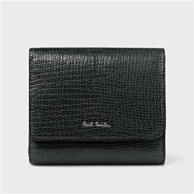 ポールスミス リザードエンボス 二つ折り財布 ブラック
