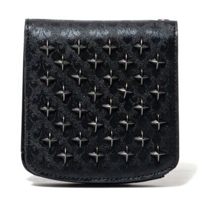 パトリックコックス 折財布 クロススタッズ 二つ折り札入れ ブラック PATRICK COX