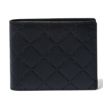 パトリックコックス 折財布 LOGO EMBOSS 小銭入れ付二つ折り財布 ブラック PATRICK COX