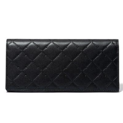 COX ブラック PATRICK パトリックコックス 長財布 LOGO EMBOSS かぶせ型長財布