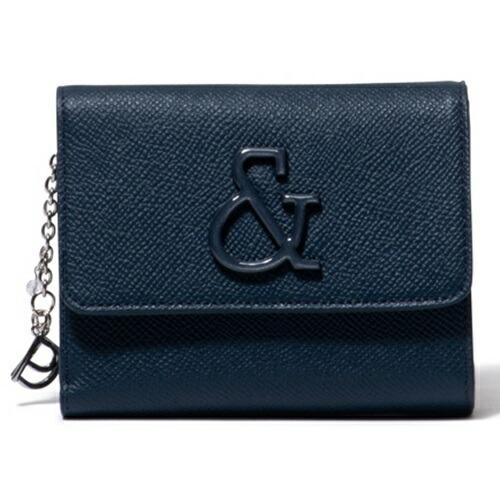 ピンキー&ダイアン 財布 折財布 がま口 &ブローチ ネイビー Pinky&Dianne