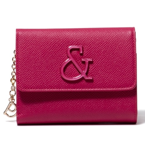 ピンキー&ダイアン 財布 折財布 がま口 &ブローチ ローズピンク Pinky&Dianne