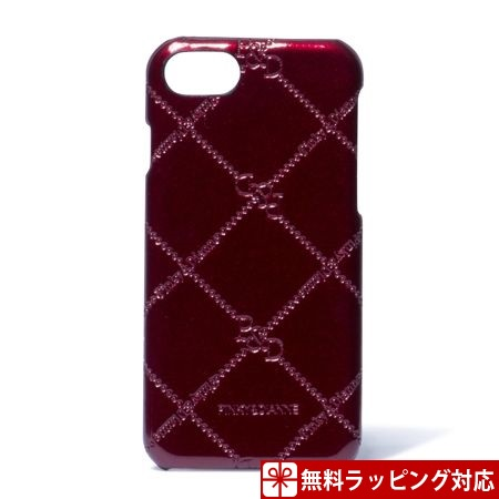 ピンキー&ダイアン スマホケース レディース スマートフォンハードケース iPhone6/6s/7対応 チェックエナメル ボルドー Pinky&Dianne