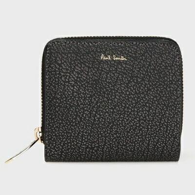 ポールスミス 折財布 メタリックグレイン 2つ折り財布 ブラック Paul Smith