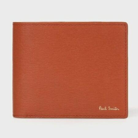 ポールスミス 財布 折財布 メンズ ストローグレインレザー 2つ折り財布 ブラウン Paul Smith