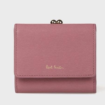 ポールスミス 財布 折財布 レディース ストローグレインレザー 3つ折り財布 ピンク Paul Smith