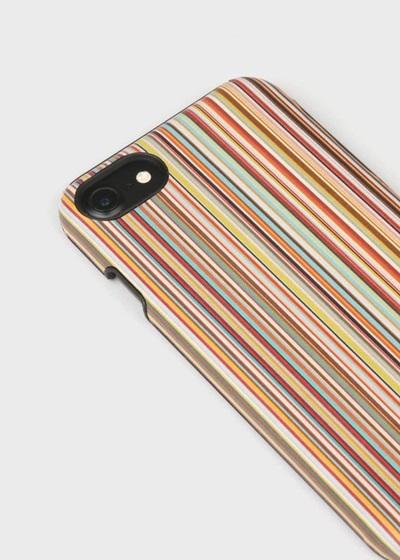 17d2b5f314 商品説明繊細で発色の良いマルチストライプレザーにエンボス加工を施したiPhoneケース。ポール・スミスのデザインシグネチャーのひとつでもある「マルチストライプ」の  ...