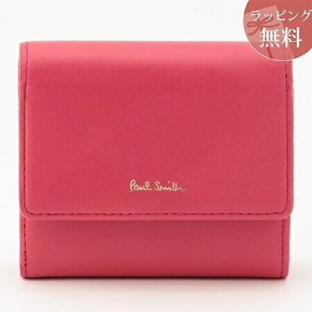 ポールスミス 財布 折財布 二つ折り クラシックレザー ピンク Paul Smith