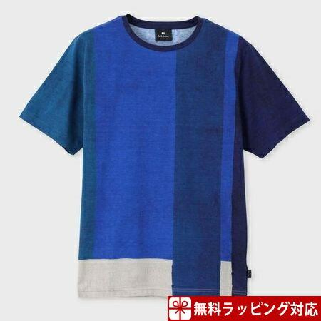ポールスミス Tシャツ メンズ African Flag プリント ブルー L Paul Smith