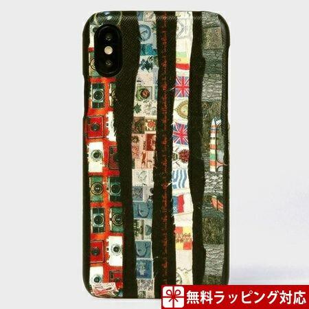 ポールスミス スマホケース メンズ アーカイブストライプ iPhoneケース iPhoneX、Xs ブラック Paul Smith