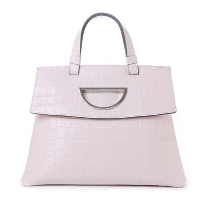 サマンサタバサ Violet D ハンドバッグ クロコ型押し新色 ショルダーバッグ ピンク