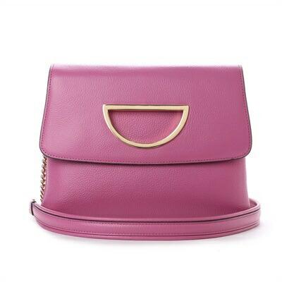 サマンサタバサ Violet D チェーン付きクラッチバッグ ピンク