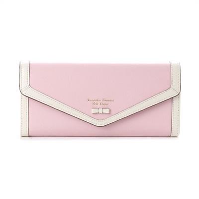 サマンサタバサプチチョイス プチリボンパイピングシリーズ 長財布 ピンク