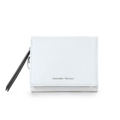 サマンサタバサ STチャーム小物 三つ折り財布 ホワイト