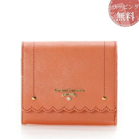 サマンサタバサ 財布 折財布 スカラップシリーズ 3つ折り財布 オレンジ SamanthaThavasaPetitChoice, パサージュショップ 21234003