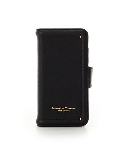 サマンサタバサ モバイルケース iphone7-8 シンプルステッチ ブラック SamanthaThavasaPetitChoice