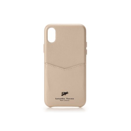 サマンサタバサ モバイルケース 黒メッキロゴ金具iphoneケース X-Xs ゴールド SamanthaThavasaPetitChoice