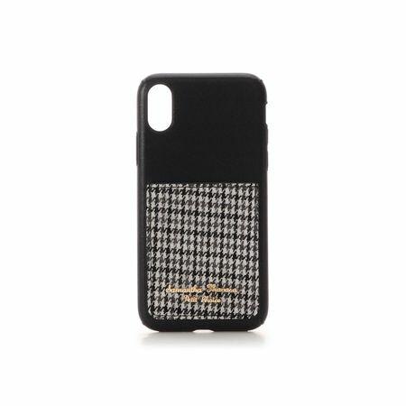 サマンサタバサ モバイルケース ポケット付iPhoneケース 千鳥 X-Xs ブラック SamanthaThavasaPetitChoice
