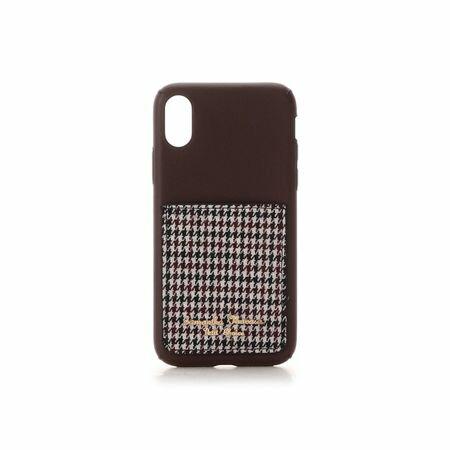 サマンサタバサ モバイルケース ポケット付iPhoneケース 千鳥 X-Xs ブラウン SamanthaThavasaPetitChoice