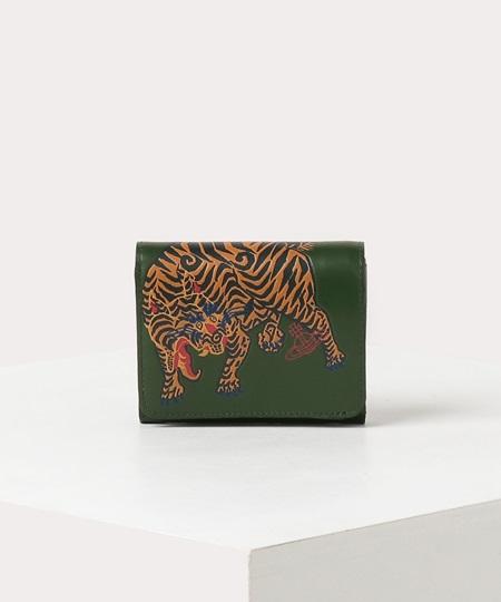 ヴィヴィアンウエストウッド 折財布 ファイティングタイガー 二つ折りミニ財布 グリーン Vivienne Westwood