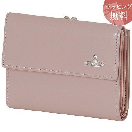 ヴィヴィアンウエストウッド 財布 折財布 二つ折り 口金 がま口 レディース ヴィンテージ WATER ORB ピンク 限定カラー Vivienne Westwood
