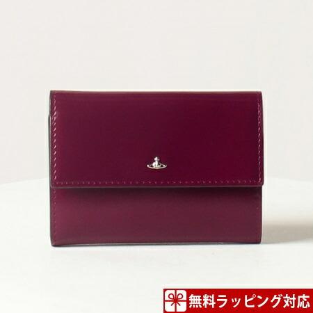 ヴィヴィアンウエストウッド 財布 レディース 折財布 三つ折り SIMPLE TINY パープル Vivienne Westwood