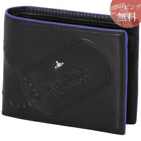 ヴィヴィアンウエストウッド 財布 折財布 二つ折り メンズ ドッグタグ ブラック Vivienne Westwood