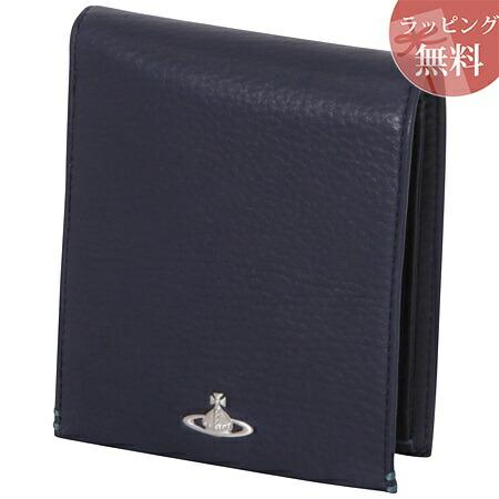 ヴィヴィアンウエストウッド 財布 折財布 二つ折り メンズ フィール ネイビー Vivienne Westwood