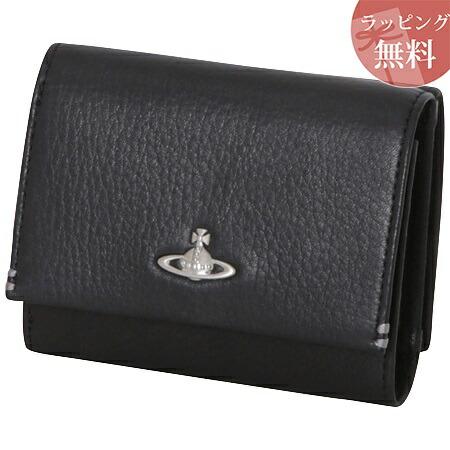 ヴィヴィアンウエストウッド 財布 折財布 三つ折り メンズ フィール ブラック Vivienne Westwood