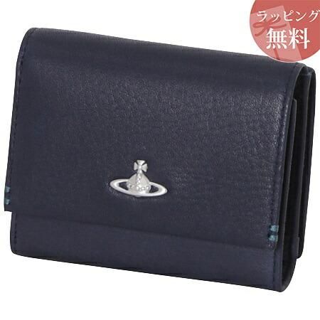 ヴィヴィアンウエストウッド 財布 折財布 三つ折り メンズ フィール ネイビー Vivienne Westwood