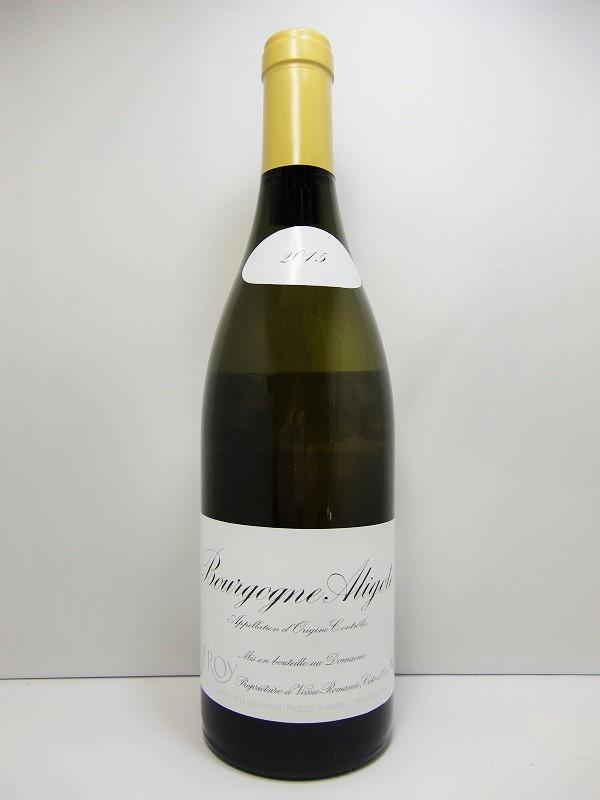 ドメーヌ・ルロワ ブルゴーニュ・アリゴテ [2015]Domaine Leroy Bourgogne Aligote